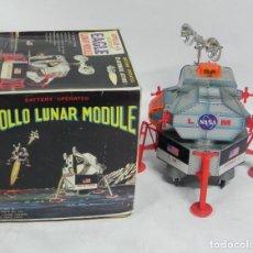 Giocattoli antichi di latta: ANTIGUA NAVE ESPACIAL APOLLO II, MADE IN JAPAN (DSK), SPACE TOY, EAGLE LUNAR MODULE, REALIZADA DE HO. Lote 266062278