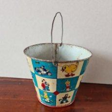 Giocattoli antichi di latta: CUBO JUGUETES REY DE VIGO. MARCADO. 11 CM. Lote 267877139