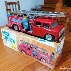 Brinquedos antigos de folha-de-Flandres: FIRE TRUCK - ANTIGUO CAMIÓN DE BOMBEROS DE HOJALATA LITOGRAFIADA. FUNCIONA CORRECTAMENTE.. Lote 268151079