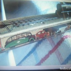 Juguetes antiguos de hojalata: ARNOLD TRAIN ON LITTLE TINPLATE TRACK WITH CLOCKWORK POWER .MADE IN GERMANY. Lote 269634793