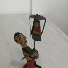 Brinquedos antigos de folha-de-Flandres: MUÑECO DE CUERDA TRAPECISTA LITOGRAFIADO - HOJALATA - PAYA - 1940 / AÑOS 40 - ESPAÑA. Lote 270252723
