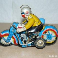 Brinquedos antigos de folha-de-Flandres: CLOCKWORK MOTO CON SIDECAR MS 709 CON MECANISMO A CUERDA ANTIGUA AÑOS 60/70 ANTIQUE BIKE ALFREEDOM. Lote 274249508
