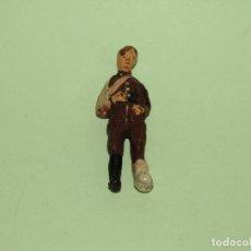 Brinquedos antigos de folha-de-Flandres: ANTIGUO SOLDADO BRITÁNICO HERIDO EN PASTA DE COMPOSICIÓN - LINEOL O ELASTOLIN. Lote 275103583