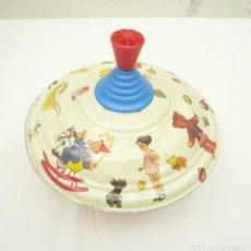 Juguetes antiguos de hojalata: PEONZA METÁLICA KARL ROHRSEITZ. Lote 275305508