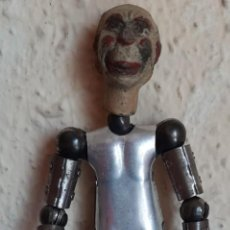 Brinquedos antigos de folha-de-Flandres: (JU-210703)CURIOSO PAYASO ARTICULADO EN HOJALATA Y MADERA DE LA CASA SUIZA 'SABA' - AÑOS 20. Lote 275475468