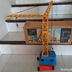 Brinquedos antigos de folha-de-Flandres: ANTIGUA GRUA N.B.N. MADE IN GERMANY TIPO RICO PAYA. Lote 275695553