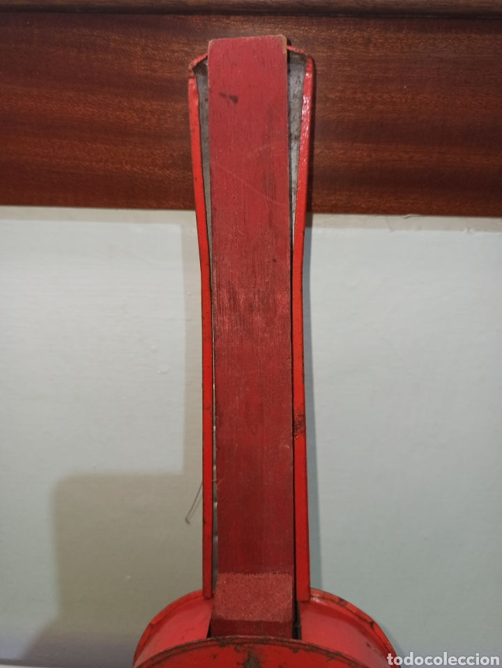 Juguetes antiguos de hojalata: GUITARRA ANTIGUA JAPONESA AÑOS 60-70 - Foto 4 - 278592783