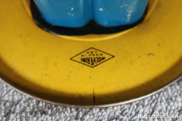 Juguetes antiguos de hojalata: GRAN SOLDADO CON TAMBOR DE HOJALATA A CUERDA - Nº 27 DRUM MAJOR - WOLVERINE - MADE IN USA - Foto 14 - 283293428