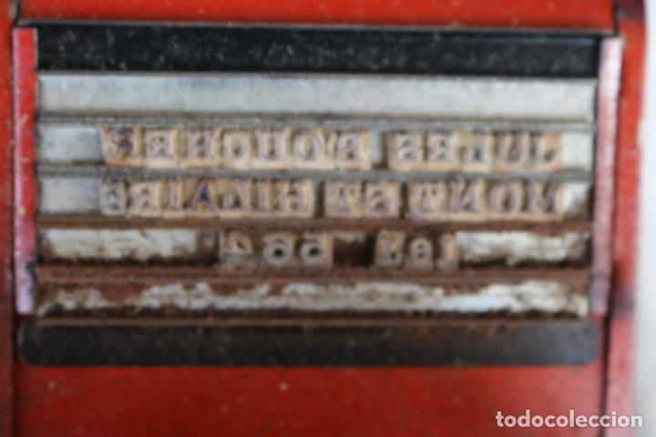 Juguetes antiguos de hojalata: MAQUINA IMPRENTA DE HOJALATA - CON SU CAJA ORIGINAL Y ACCESORIOS - Foto 9 - 283305268