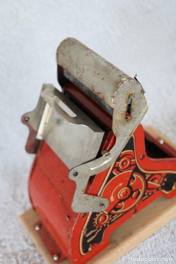 Juguetes antiguos de hojalata: MAQUINA IMPRENTA DE HOJALATA - CON SU CAJA ORIGINAL Y ACCESORIOS - Foto 15 - 283305268