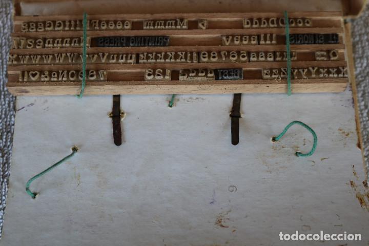 Juguetes antiguos de hojalata: MAQUINA IMPRENTA DE HOJALATA - CON SU CAJA ORIGINAL Y ACCESORIOS - Foto 28 - 283305268