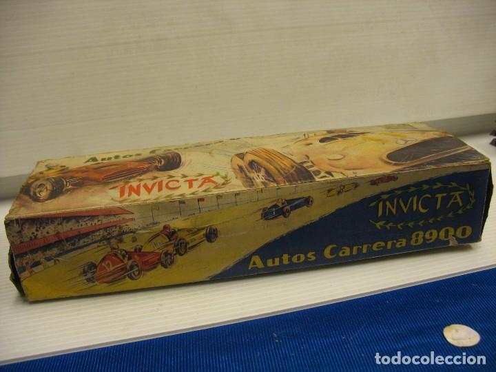 Juguetes antiguos de hojalata: invicta ,coches de carreras años 40 - Foto 3 - 283659698