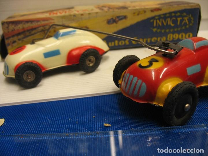 Juguetes antiguos de hojalata: invicta ,coches de carreras años 40 - Foto 11 - 283659698