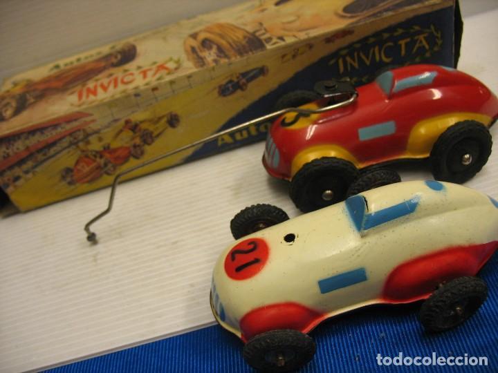Juguetes antiguos de hojalata: invicta ,coches de carreras años 40 - Foto 17 - 283659698