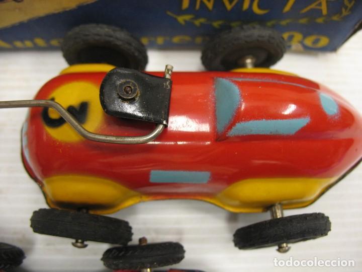 Juguetes antiguos de hojalata: invicta ,coches de carreras años 40 - Foto 18 - 283659698