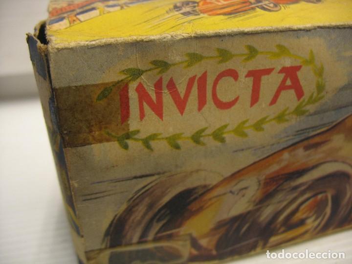 Juguetes antiguos de hojalata: invicta ,coches de carreras años 40 - Foto 25 - 283659698
