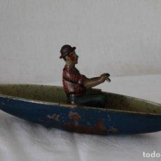 Juguetes antiguos de hojalata: BARCA DE HOJALATA RICO. Lote 285152493