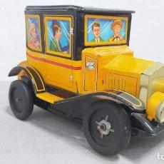 Brinquedos antigos de folha-de-Flandres: COCHE HOJALATA LITOGRAFIADA ALPS 2618 MADE IN JAPAN. AÑOS 60. FUNCIONANDO.. Lote 295459178