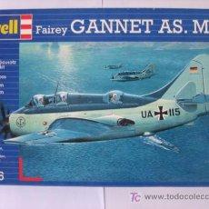 Modelos a escala: MAQUETA AVION FAIREY GANNET AS MK.1 REVELL 1/72. Lote 57254938