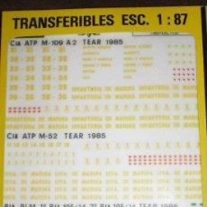 Modelos a escala: TRANSFERIBLES 1/87 PARA VEHICULOS MILITARES DE INFANTERIA DE MARINA. Lote 45947906