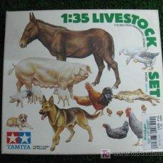 Modelos a escala: (TAMIYA) SET DE MINIATURAS DE ANIMALES ESCALA 1/35. Lote 20598889