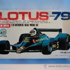 Modelos a escala: MAQUETA LOTUS-79. ESCALA 1/28 CON MOTOR.. Lote 27318491