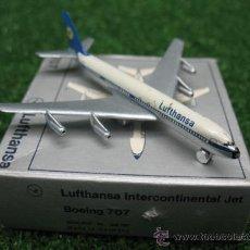 Modelos a escala: SCHUCO - AVIÓN LUFTHANSA INTERCONTINENTAL JET BOEING 707 NR. 335 787. Lote 25378747