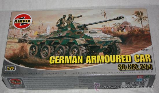 GERMAN ARMOURED CAR : SD.KFZ.234( AIRFIX ESCALA 1/76) NUEVO (Juguetes - Modelos a escala)