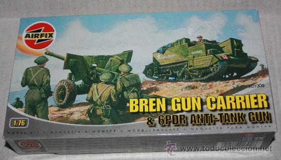 BREN GUN CARRIER & 6PDR ANTI-TANK GUN ( AIRFIX ESCALA 1/76) NUEVO (Juguetes - Modelos a escala)