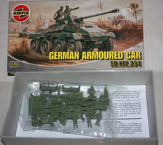 Modelos a escala: GERMAN ARMOURED CAR : SD.KFZ.234( AIRFIX ESCALA 1/76) nuevo - Foto 2 - 28491130