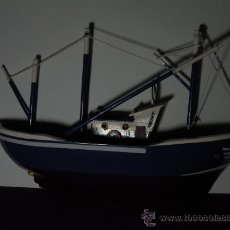 Modelos a escala: BARCO PESCA PARA COLGAR DE LA PARED 21 CMS LARGO 3 CMS ANCHO MADERA MAR . Lote 33530508