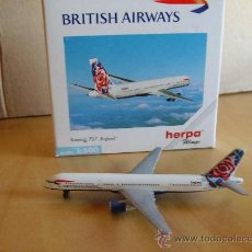 Modelos a escala: HERPA --- AVION BOEING 757 ENGLAND - BRITISH AIRWAYS - 1/500. Lote 32515609