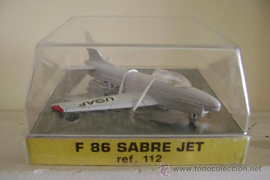Modelos a escala: AVION DE METAL PLAYME F 86 SABRE JET .REFª112.EN SU CAJA - Foto 2 - 53008917