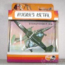 Modelos a escala: AVION DE METAL PLAYME. STARGFHTER F-104.REF 109.EN SU CAJA. Lote 100144746