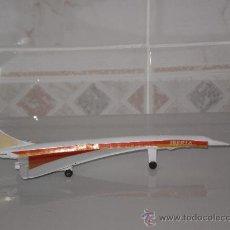 Modelos a escala: AVION CONCORDE EN METAL ( IBERIA ) , 19 CMS . BUENA CONSERVACION , AÑOS 80 .. Lote 72810010