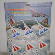 Modelos a escala: NOVEDAD!! EXPOSITOR COMPLETO - 9 AVIONES CONCORDE METALICOS ( ACERCA LOS CONTINENTES ) AÑOS 70/80 .. Lote 34680252