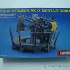 "Modelos em escala: CAÑON AUTOMATICO OERLIKON 20 MM ""TALHOER"" AÑOS 70'S. Lote 35226585"