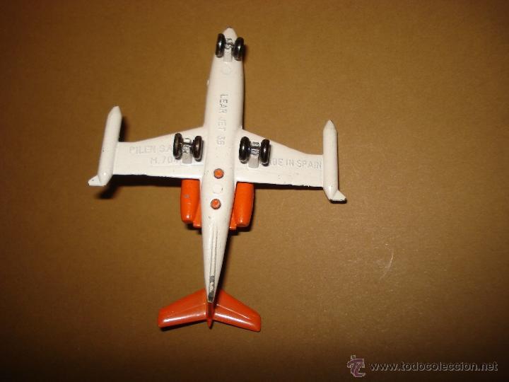 Modelos a escala: Antigua Avion LEAR JET 36 de Juguetes PILEN Año 1970s - Foto 3 - 39962372