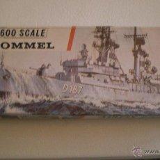 Modelos a escala: MAQUETA VINTAGE AIRFIX ESCALA 600 BARCO THE ROMMEL. Lote 43868093