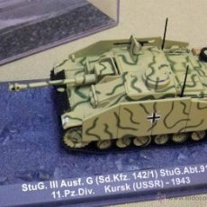 Modelos a escala: VEHICULO MILITAR ALEMAN, STUG III AUSF. G (SD.KFZ. 142/1) KURSK (USSR) 1943, EN SU VITRINA. Lote 45926225