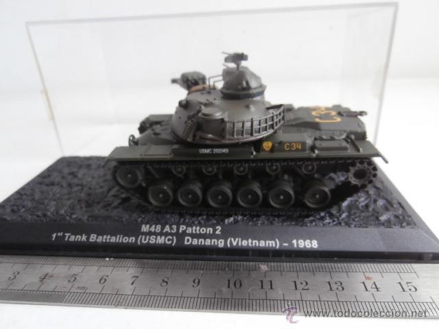 TANQUE: M48 A3 PATTON, 1 TANK BATTALION - USMC- DANANG - VIETNAM - 1968 (Juguetes - Modelos a escala)