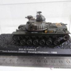 Modelos a escala: TANQUE: M48 A3 PATTON, 1 TANK BATTALION - USMC- DANANG - VIETNAM - 1968. Lote 47944421
