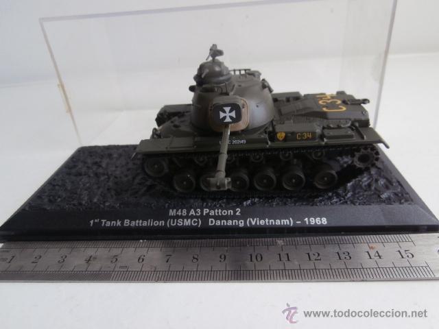 Modelos a escala: TANQUE: M48 A3 Patton, 1 Tank Battalion - USMC- Danang - Vietnam - 1968 - Foto 2 - 47944421