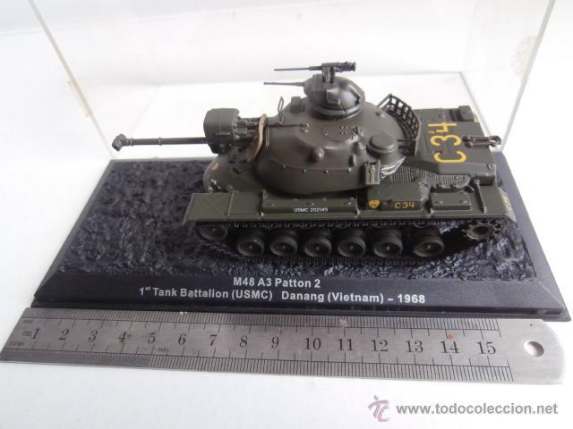 Modelos a escala: TANQUE: M48 A3 Patton, 1 Tank Battalion - USMC- Danang - Vietnam - 1968 - Foto 3 - 47944421