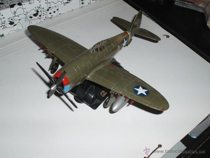 Modelos a escala: AVION DE COMBATE MILITAR II GUERRA MUNDIAL ESCALA P-47 THUNDERBOLT METAL - Foto 2 - 51775133