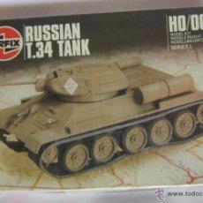 Modelos a escala: MAQUETA AIRFIX, TANQUE RUSSIAN T.34, ESCALA HO/00, EN CAJA. CC. Lote 54090300