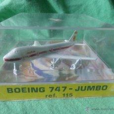 Modelos a escala: AVIÓN IBERIA BOEING 747 JUMBO PLAYME S.A REF.115 AVIONES DE METAL.ORIGINAL AÑOS 60-COMPLETO EN CAJA. Lote 54549301