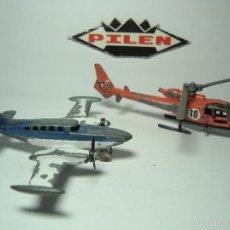 Modelos a escala: LOTE AVIONETA CESSNA Y HELICOPTERO BAZELLE DE PILEN. Lote 56844522