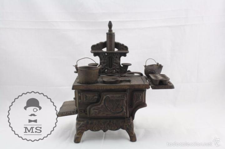 Modelos a escala: Antigua Cocina / Cocinita de Carbón de Juguete - Crescent - Hierro - Años 40-50 - 31 x 15 x 31 cm - Foto 3 - 57150039
