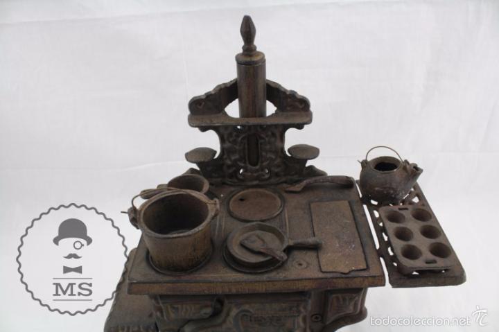 Modelos a escala: Antigua Cocina / Cocinita de Carbón de Juguete - Crescent - Hierro - Años 40-50 - 31 x 15 x 31 cm - Foto 4 - 57150039